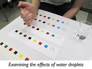 Examining the effects of water droplets